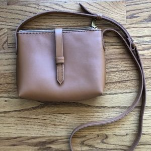 J. Crew Brown Leather Crossbody Bag